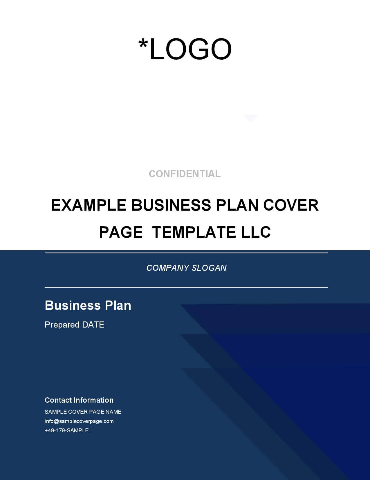 business plan cover page contents collaboration